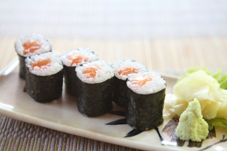 Salmon Maki sushi  Stock Photo - 16304207