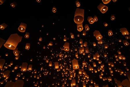 Floating lantern photo