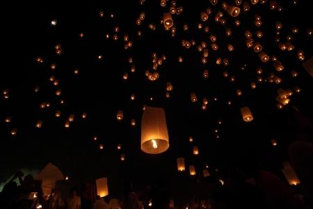 Floating lantern Stock Photo - 16688382