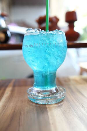 blue lemon soda photo