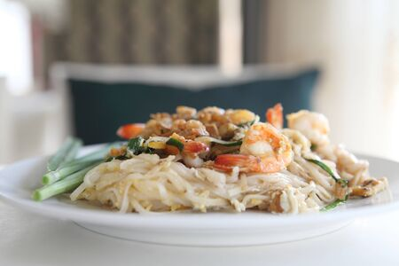 Thai food padthai fried noodle with shrimp Stock Photo - 17201513