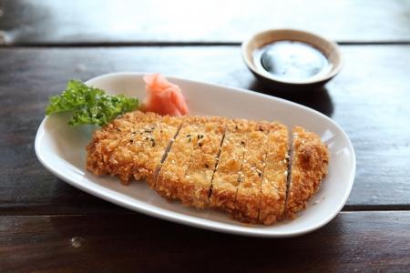 breaded pork chop: tonkatsu , Pork cutlet