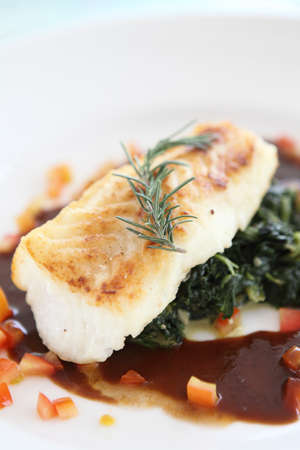 steack fish ,Fillet of snow fish  photo