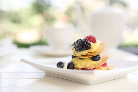 Mille feuille of berries photo