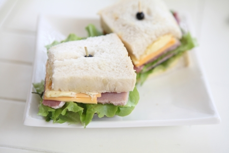 sandwich ham and cheese photo
