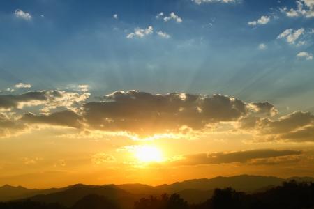 sky in sunrise photo