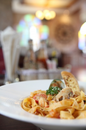 fettuccine seafood photo