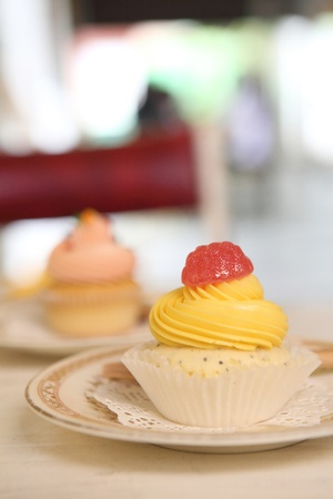 lemon cupcake photo