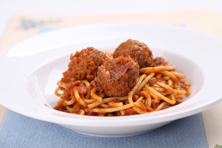 spaghetti: Spaghetti Meatballs