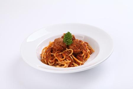 Spaghetti Meatballs Standard-Bild - 21121841
