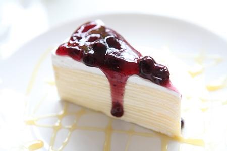 Blueberry fancy cake