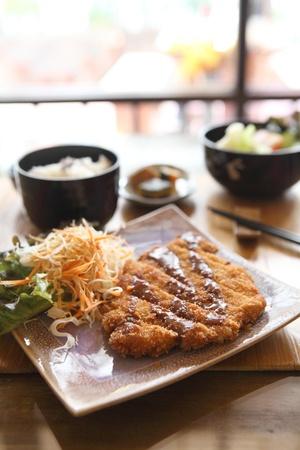 tonkatsu , Pork cutlet  photo