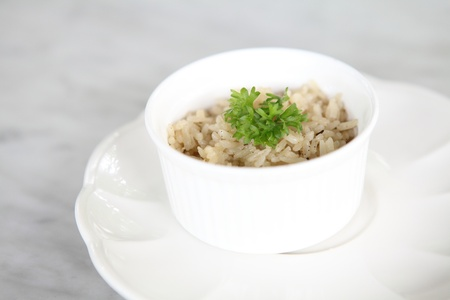 rice with herb photo