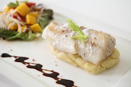 grilled cod fish steak