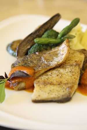 sea bass fillet photo