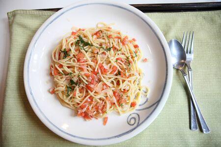 japanes: Spaghetti with tomato japanese style