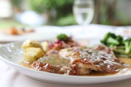 saltimbocca pork steak
