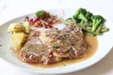 サルティンボッカ豚肉ステーキ