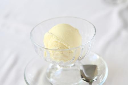 vanilla ice cream  photo