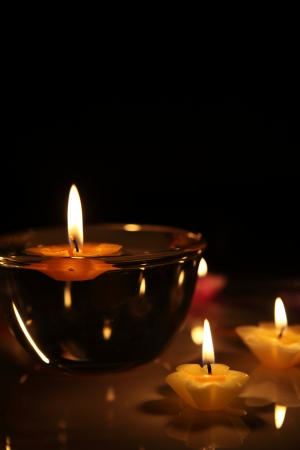 flower candles  photo