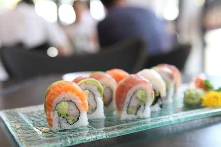 mix sushi rolls  photo