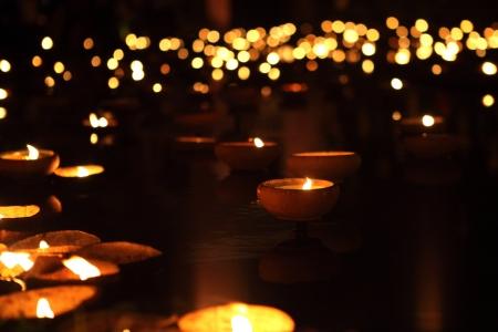 religious holiday: Burning candles  Stock Photo