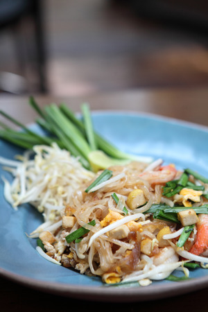 Thai food padthai fried noodle with shrimp Stock Photo - 24187172