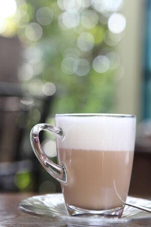 coffee on wood  photo