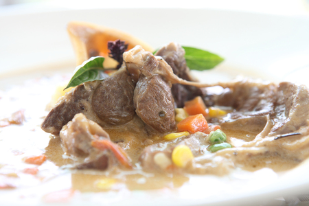 beef stew on plate  photo