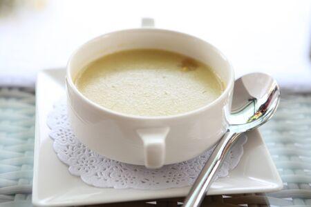 A bowl of mushroom soup  photo