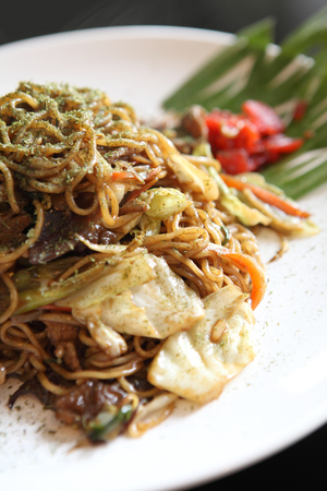 Japanese cuisine, frid noodles Yakisoba  photo