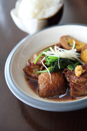 braised pork belly in Japanese style photo