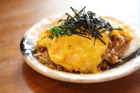 fried rice japanese style , omu soba meshi teishoku photo