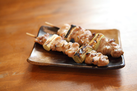 Japanese food chicken Yakitori grilled