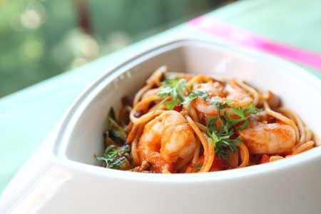 prawn spaghetti photo