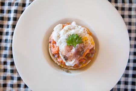 Poached egg on toast photo