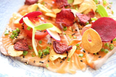 Salmon carpaccio photo