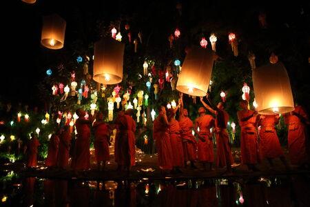 CHIANGMAI THAILAND - NOVEMBER 12 : Loy Krathong festival, celebrate the Loy Krathong festival on November 12 , 2014 in Chiangmai, Thailand