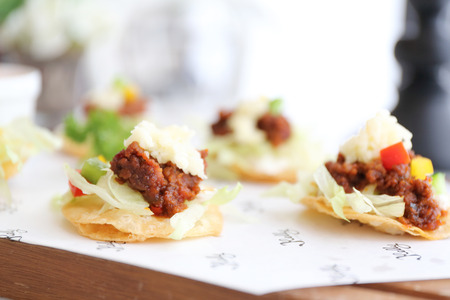 tacos: tacos with tomatoes Stock Photo