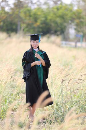 The girl in Graduation day photo