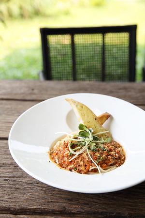 spaghetti bolognese: spaghetti bolognese Stock Photo