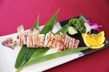 grill squid terikaki photo