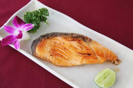 teriyaki: salmon teriyaki Stock Photo
