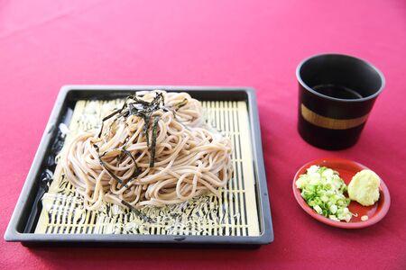 Soba noodle with fried shrimp photo