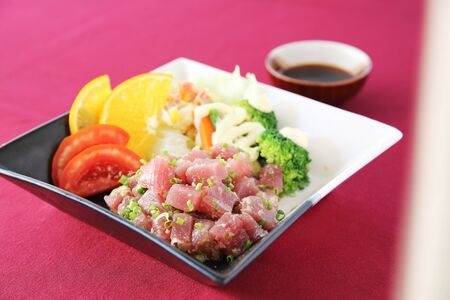ahi: Raw tuna salad