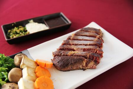 medium close up: beef steak Stock Photo