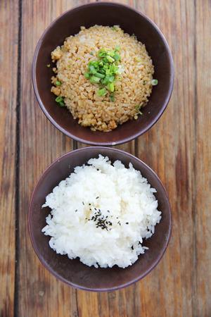arroz: Arroz con arroz frito Foto de archivo