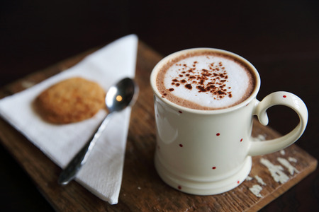 chocolate cookie: hot chocolate