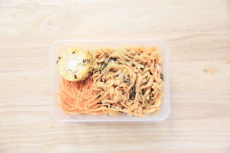 bento: Macaroni in bento Stock Photo