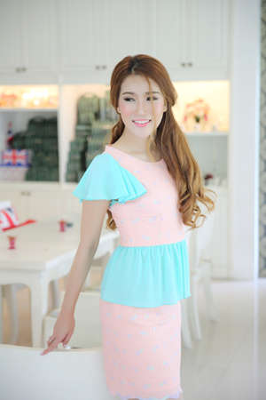 person looking: asian girl on fashion dress